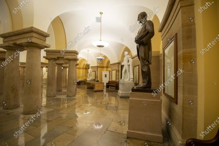 The House of Representatives voted to remove all Confederate statues from public display in the U.S. Capitol in Washington, DC on Wednesday, July 29, 2021. The statues include James Paul Clarke and John Caldwell Calhoun, who stand side by side in the Crypt on the first floor of the Capitol.