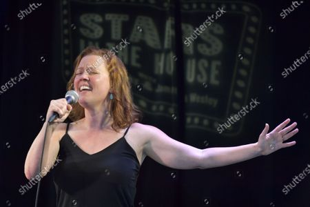 """Stock Picture of Patti Murin performs at the """"Stars In The House"""" celebrating $1M raised for the Actors Fund at Improv Asylum."""