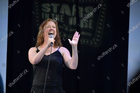 """Patti Murin performs at the """"Stars In The House"""" celebrating $1M raised for the Actors Fund at Improv Asylum."""