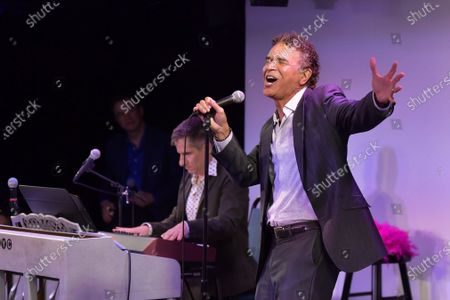 """Brian Stokes Mitchell performs at """"Stars In The House"""" celebrating $1M raised for the Actors Fund at Improv Asylum."""