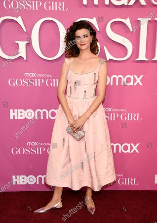 """Actress Megan Ferguson attends the premiere of the new HBO Max television series """"Gossip Girl"""" at Spring Studios, in New York"""
