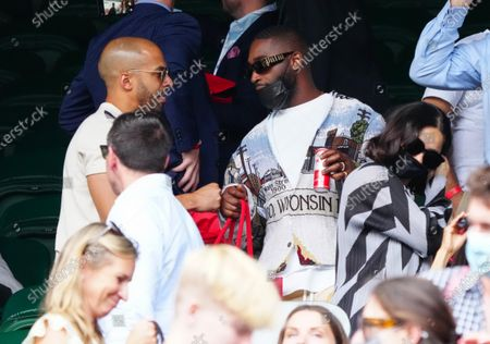 Stock Photo of Marvin Humes and Tinie Tempah on Centre Court