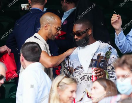 Marvin Humes and Tinie Tempah on Centre Court