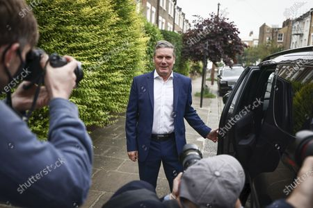 Labour Party leader Sir KEIR STARMER leaves his London home on the morning Labour won the Batley and Spen by-election. Labour narrowly held the seat which was called when previous Member of Parliament, Tracy Brabin, was elected mayor of west Yorkshire.