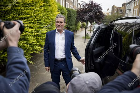 Stock Image of Labour Party leader Sir KEIR STARMER leaves his London home on the morning Labour won the Batley and Spen by-election. Labour narrowly held the seat which was called when previous Member of Parliament, Tracy Brabin, was elected mayor of west Yorkshire.