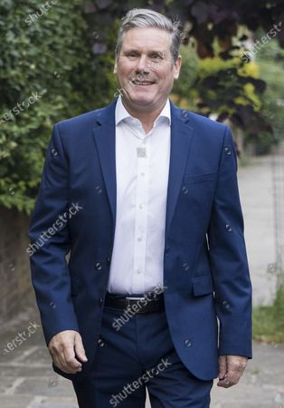 Stock Picture of Labour Party leader Sir KEIR STARMER leaves his London home on the morning Labour won the Batley and Spen by-election. Labour narrowly held the seat which was called when previous Member of Parliament, Tracy Brabin, was elected mayor of west Yorkshire.
