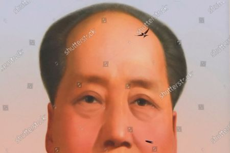 Swallow flies near the portrait of late Chinese leader Mao Zedong during a ceremony to mark the 100th anniversary of the founding of the ruling Chinese Communist Party at Tiananmen Gate in Beijing