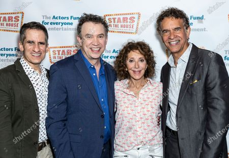 Seth Rudetsky, James Wesley, Andrea Martin and Brian Stokes Mitchell attending Stars in the House celebrates 1 Million USD raised for The Actor's Fund at Asylum NYC