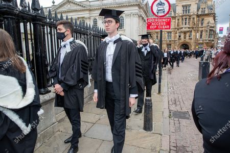 Editorial image of Cambridge University graduation day, UK - 30 Jun 2021