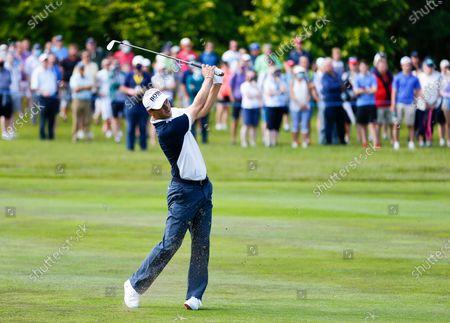 Martin Kaymer of Germany plays his second shot from the 5th fairway; Mount Juliet Golf Club, Kilkenny, Ireland; Dubai Duty Free Irish Open Golf, Day One.