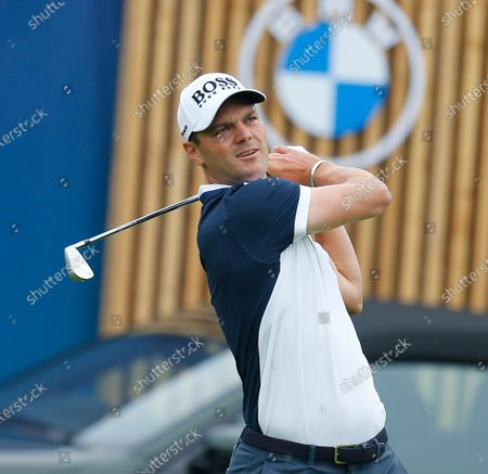 Martin Kaymer of Germany tees off on the 14th hole; Mount Juliet Golf Club, Kilkenny, Ireland; Dubai Duty Free Irish Open Golf, Day One.