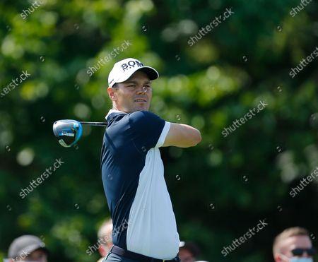 Martin Kaymer of Germany tees off on the 5th hole; Mount Juliet Golf Club, Kilkenny, Ireland; Dubai Duty Free Irish Open Golf, Day One.
