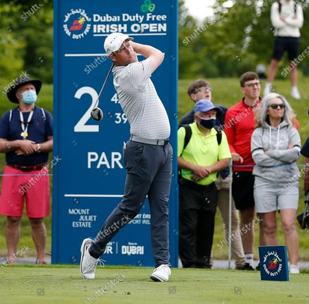 Martin Kaymer of Germany tees off on the 2nd hole; Mount Juliet Golf Club, Kilkenny, Ireland; Dubai Duty Free Irish Open Golf, Day Two.