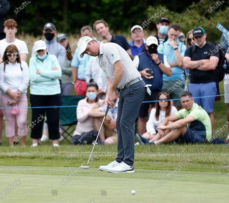 Martin Kaymer of Germany putts on the 8th green; Mount Juliet Golf Club, Kilkenny, Ireland; Dubai Duty Free Irish Open Golf, Day Two.