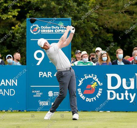 Martin Kaymer of Germany tees off on the 9th hole; Mount Juliet Golf Club, Kilkenny, Ireland; Dubai Duty Free Irish Open Golf, Day Two.