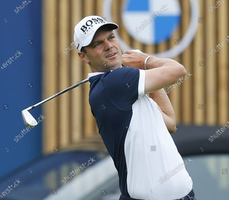 Martin Kaymer tees off on the 14th hole