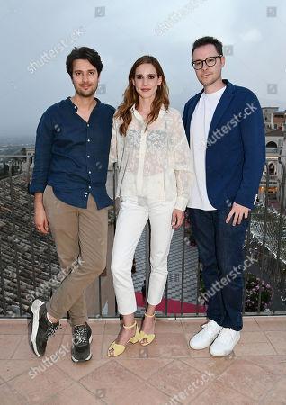 The directors Roberto De Feo and Paolo Strippoli, Matilda Lutz