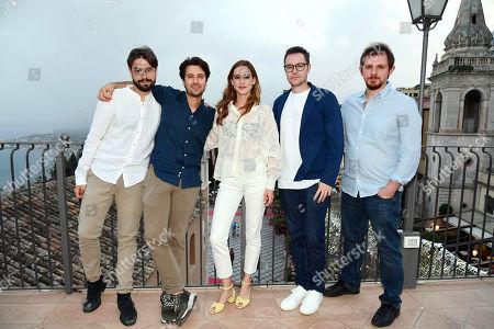 The directors Roberto De Feo and Paolo Strippoli, Matilda Lutz, the screenplayers Lucio Besana, Milo Tissone