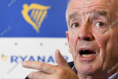 Press briefing with CEO Michael O'Leary of Ryanair on the company's Covid-19 recovery schedule for Belgium