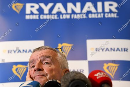 Editorial picture of CEO of Ryanair Michael O'Leary press conference, Brussels, Belgium - 01 Jul 2021