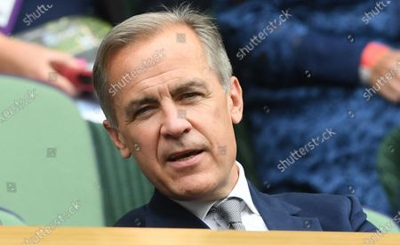 Stock Photo of Mark Carney, former Governor of the Bank of England, in the royal box at the Wimbledon Championships, Wimbledon, Britain, 01 July 2021.