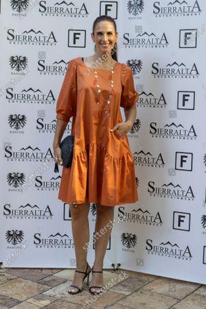 Stock Image of Nuria Fergo attends the 'lgunos Le Llaman Magia presentation at Fortuny restaurant.