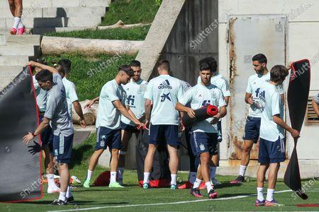 Marco Asensio of Spain during the training of Spanish Olympic Soccer Team at Ciudad del Futbol Las Rozas on Jun 20, 2021 in Las Rozas, Madrid, Spain.