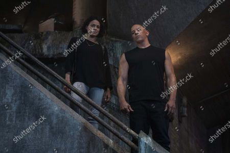 Stock Photo of Michelle Rodriguez, Vin Diesel