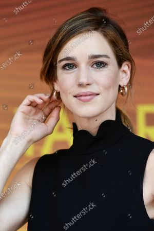 Stock Photo of Matilda Lutz during the photocall of film ' A Classic Horror Story ' presented by Netflix