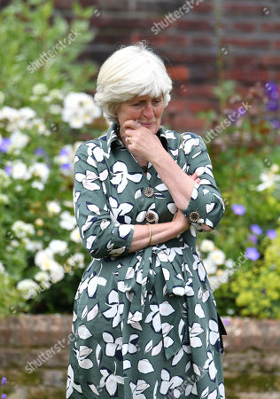 Stock Photo of Lady Jane Fellowes at the unveiling of a statue of her sister Diana, Princess of Wales, in the Sunken Garden at Kensington Palace, London, on what would have been her 60th birthday.