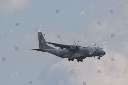 Stock Image of The last unit of Polish soldiers landed at the airport in Wroclaw, Poland on June 30, 2021. Thus, the Polish mission in Afghanistan ended after 20 years. The welcome was attended by the Minister of National Defense, Mariusz Blaszczak.
