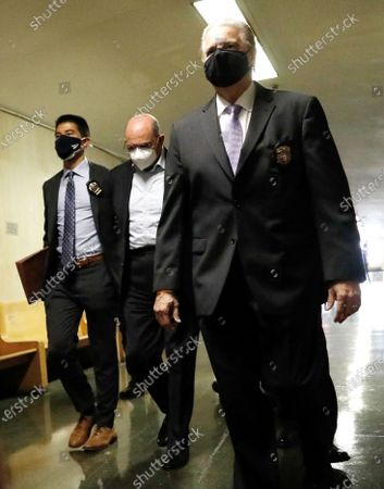 Allen Weisselberg, (C) the chief financial officer for the Trump Organization, arrives for a court hearing related to an indictment by the Manhattan district attorney's office in New York, New York, USA, 01 July 2021. The Trump Organization, the family business of former US President Donald J. Trump, and Weisselberg have been indicted for alleged tax crimes related to unreported fringe benefits given to employees of company, charges that are result of a years long investigation by Manhattan District Attorney Cy Vance and New York State Attorney General Letitia James.