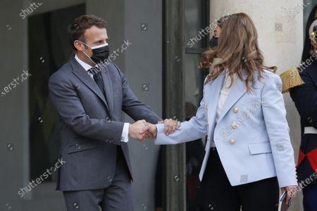 Melinda Gates and president of France Emmanuel Macron