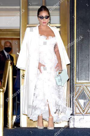 Lady Gaga leaves the Plaza Hotel