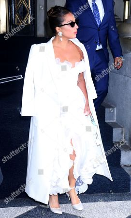 Lady Gaga seen exiting the Plaza Hotel in New York City