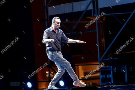 Stock Picture of Andrea Sasdelli, aka Giuseppe Giacobazzi: comedian from Romagna, is one of the leading characters of Zelig, a TV show that sees him protagonist in all editions, since 2006! His stage debut dates back to 1993, alongside colleagues such as Duilio Pizzocchi and Natalino Balasso