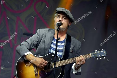 Stock Image of English singer Pete Doherty in concert at the Lutece Arenes