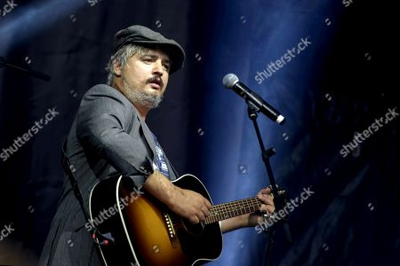 Stock Picture of English singer Pete Doherty in concert at the Lutece Arenes