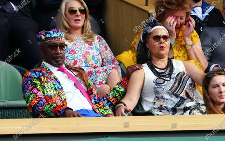 Derrick Evans, otherwise known as Mr Motivator, in the Royal Box