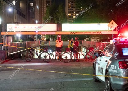 Editorial photo of Toronto police officer hit by car near City Hall, Toronto, Canada - 01 Jul 2021