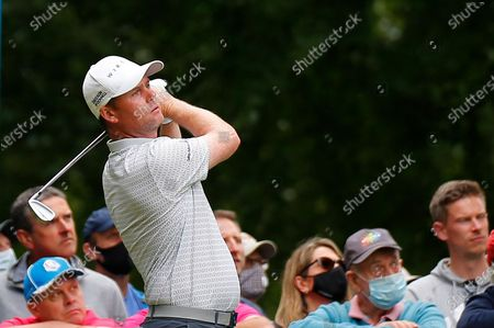 Martin Kaymer tees off on the 11th hole