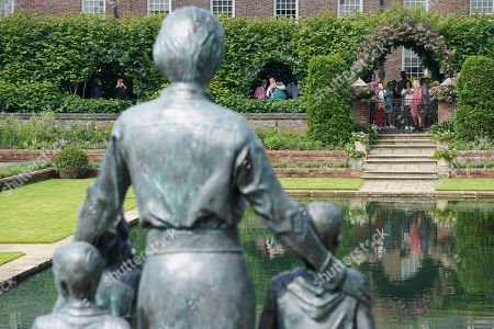 Editorial picture of Members of the public view Princess Diana statue, Kensington Palace, London, UK - 02 Jul 2021