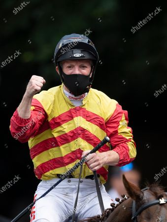 Sir Ron Priestley (Frannie Norton) are led into the winners enclosure after the Princess Of Wales's StakesNewmarket 8.7.21 Pic: Edward Whitaker