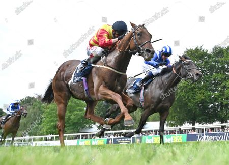 (L) Sir Ron Priestley (Franny Norton) wins The Princess of Wales's Stakes from (R) Al Aasy (Jim Crowley).Photo © Hugh Routledge