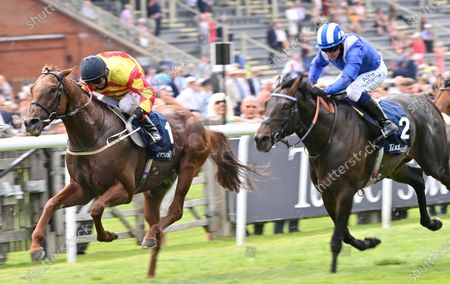 Stock Image of (L) Sir Ron Priestley (Franny Norton) wins The Princess of Wales's Stakes from (R) Al Aasy (Jim Crowley).Photo © Hugh Routledge