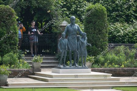 Editorial photo of Princes Diana Statue inside Kensington Gardens, London, UK - 02 Jul 2021