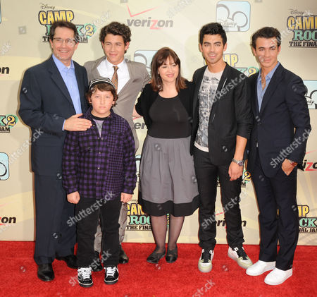 Stock Picture of Gary Marsh and Nick Jonas and Frankie Jonas and Carolina Lightcap and Joe Jonas and Kevin Jonas
