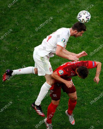 Editorial image of Russia Switzerland Spain Euro 2020 Soccer, St. Petersburg, Russian Federation - 02 Jul 2021