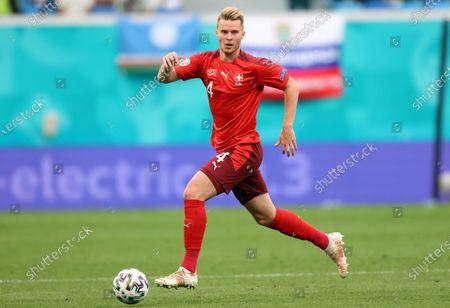 Nico Elvedi of Switzerland in action during the UEFA EURO 2020 quarter final match between Switzerland and Spain in St.Petersburg, Russia, 02 July 2021.