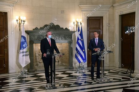 Editorial image of Greek Prime Minister met with Secretary-General of the OECD, Athens, Attiki, Greece - 02 Jul 2021
